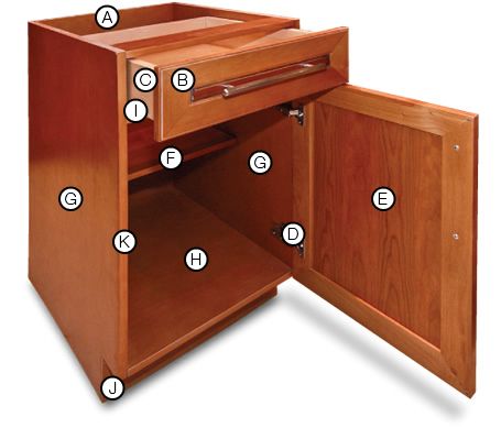 Diagram of wooden cabinet