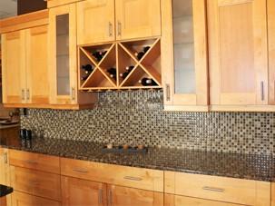 complete home decor kitchen island splash wall